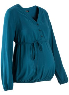 Umstandsbluse, bpc bonprix collection, blaupetrol
