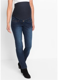 "Umstandsjeans ""Schlankmacher"", gerades Bein, bpc bonprix collection, dark denim"