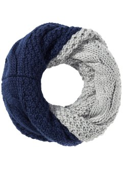Wende-Loopschal Strick, bpc bonprix collection, blau/grau