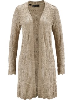 Ajour-Strickjacke, bpc selection, sand