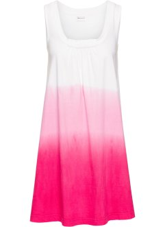 Strandkleid, bpc selection, weiß/pink