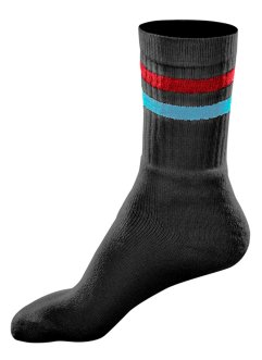 GO IN Sportsocken (6er-Pack), GO IN, schwarz geringelt