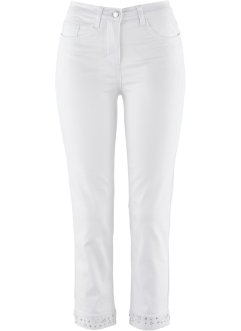 Stretch-7/8-Jeans mit Stickerei, bpc selection premium