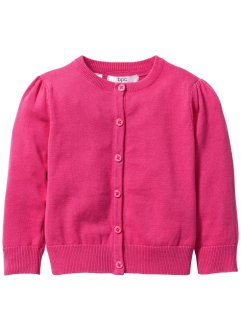 Strickjacke, bpc bonprix collection, dunkelpink