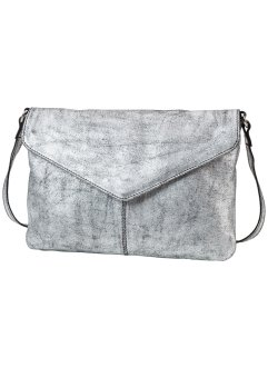 Leder Umhängetasche metallic, bpc bonprix collection, silber