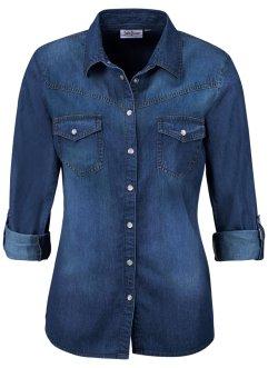 Damen jeanshemden jetzt bei bonprix bestellen - Jeanshemd lang damen ...