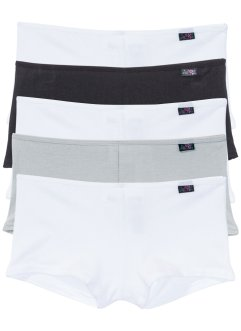 French (5er-Pack), bpc bonprix collection, schwarz/weiß/grau