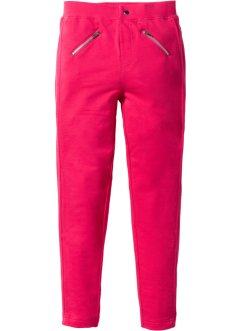 Stretchhose mit Zippern, bpc bonprix collection, hibiskuspink