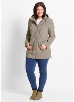 Softshell Longparka, bpc bonprix collection, taupe