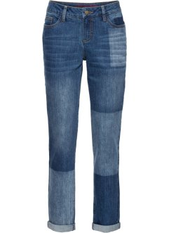 Boyfriend Jeans mit Patchwork-Optik, RAINBOW
