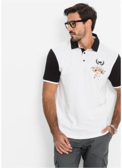 Poloshirt Regular Fit, bpc selection, weiß