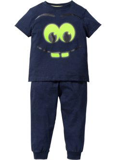 "Pyjama (2-tlg. Set) ""GLOW IN THE DARK"", bpc bonprix collection, dunkelblau"