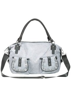 Handtasche Casual mit Schimmereffekt, bpc bonprix collection, grau