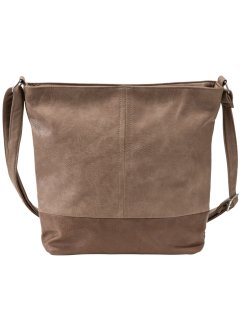 Shopper zweifarbig medium, bpc bonprix collection, braun/hellbraun