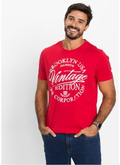 T-Shirt Slim Fit, John Baner JEANSWEAR, rot