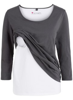 Umstandsshirt (sehr diskrete Stillfunktion), 3/4-Arm, bpc bonprix collection