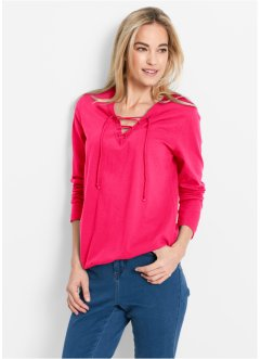 Langarm-Shirt, bpc bonprix collection, hibiskuspink