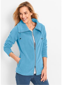 Fleece-Jacke, bpc bonprix collection, lichtblau