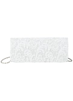 Spitzenclutch, bpc bonprix collection, creme/weiß