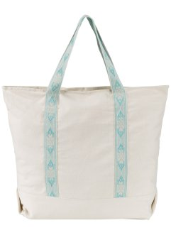 Baumwoll-Shopper, bpc bonprix collection, beige/pastellmint