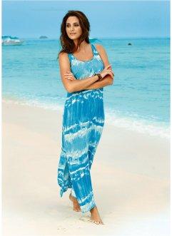 Vestido longo com estampa tie dye