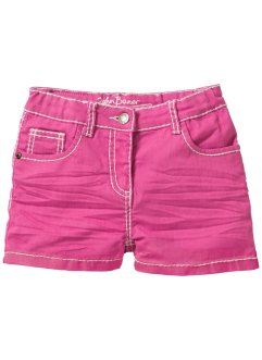 Shorts mit Crincle-Optik, John Baner JEANSWEAR, flamingopink