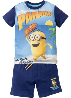 """MINIONS"" T-Shirt + Bermuda (2-tlg.), Despicable Me_TV-Mania, mitternachtsblau bedruckt ""MINIONS"""