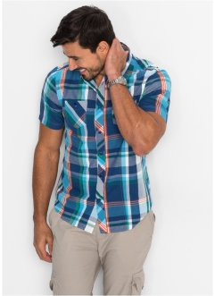 Kurzarmhemd Regular Fit, bpc bonprix collection, blau kariert