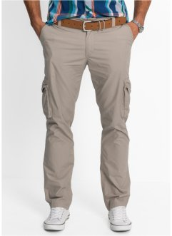 Leichte Cargohose Regular Fit Straight, bpc bonprix collection, stein