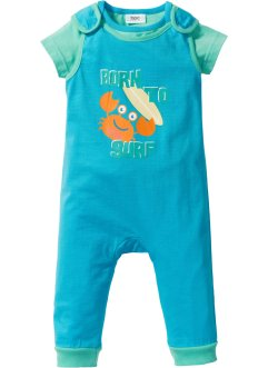 Baby T-Shirt + Strampler (2-tlg.) Bio-Baumwolle, bpc bonprix collection