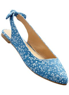 Slingballerina, bpc bonprix collection, jeansblau/sand