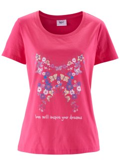 Kurzarm-Shirt, bpc bonprix collection, pink bedruckt