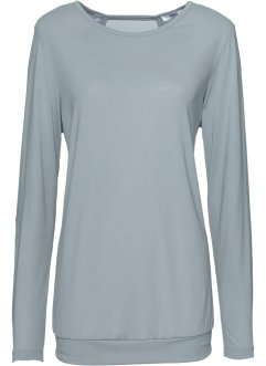 Langarm-Wellness-Shirt, bpc bonprix collection, silbergrau