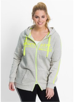 Sweatjacke, bpc bonprix collection, naturmeliert