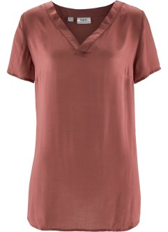 Kurzarm-Bluse, bpc bonprix collection, marsalabraun