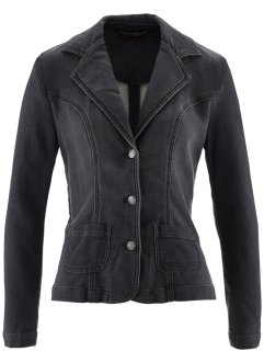 Sweatblazer in Jeansoptik, bpc selection, grey denim