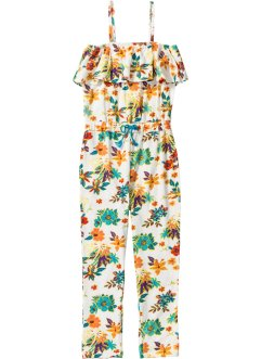 Gemusterter Jumpsuit mit Volant, bpc bonprix collection