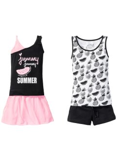 Top + Shorts + Rock (4-tlg.), bpc bonprix collection