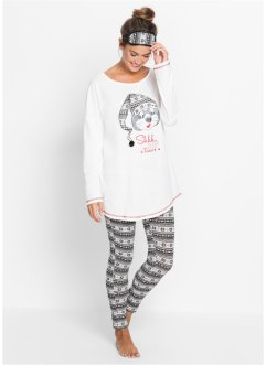 Pyjama mit Schlafmaske (3-tlg.), bpc bonprix collection