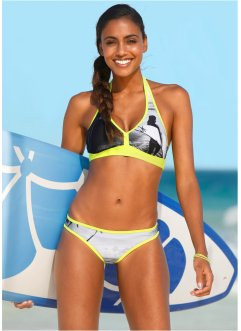 Neckholder Bikini (2-tlg. Set), bpc bonprix collection, schwarz/grau