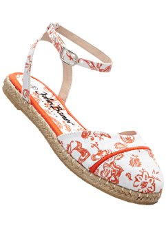 Espadrille, bpc bonprix collection, weiß/nektarine