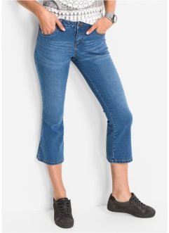 Stretch-Jeans in 3/4-Länge FLARED, John Baner JEANSWEAR, hellblau