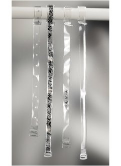 Transparentträger (4er-Pack), bpc bonprix collection, transparent Sternchen