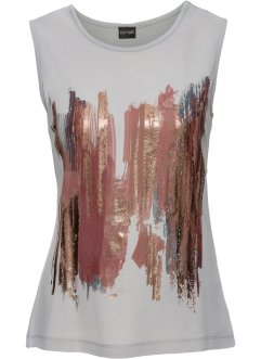 Shirttop im Materialmix, BODYFLIRT