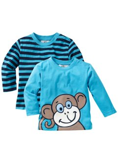 Baby Langarmshirts (2er-Pack) Bio-Baumwolle, bpc bonprix collection