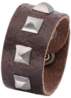 Herrenlederarmband mit Nieten, bpc bonprix collection