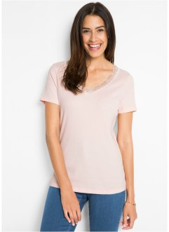 Kurzarmshirt mit Spitze, bpc bonprix collection