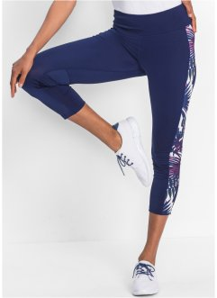 3/4-Sport-Leggings mit Kontrasteinsätzen, bpc bonprix collection