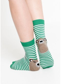 Ringelsocken mit Tiermotiv (5er-Pack), bpc bonprix collection