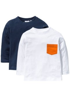 Langarmshirts mit Tasche (2er-Pack), bpc bonprix collection